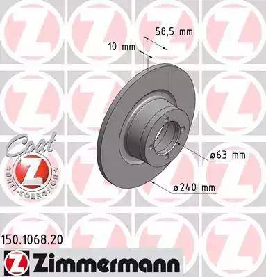 Zimmermann 150.1068.20 - Bremžu diski autodraugiem.lv