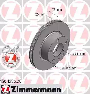 Zimmermann 150.1256.20 - Bremžu diski autodraugiem.lv