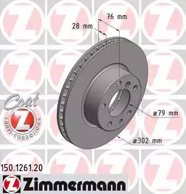 Zimmermann 150.1261.20 - Bremžu diski autodraugiem.lv