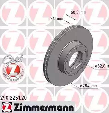 Zimmermann 290.2251.20 - Bremžu diski autodraugiem.lv