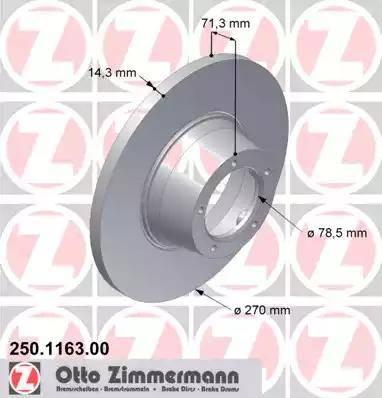 Zimmermann 250.1163.00 - Bremžu diski autodraugiem.lv