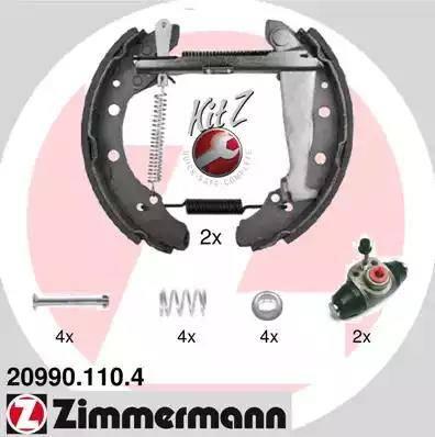 Zimmermann 20990.110.4 - Bremžu komplekts, trumuļa bremzes autodraugiem.lv