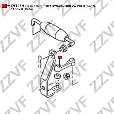 ZZVF ZV195H - Pārnesumu pārslēgšanas dakšas štoks autodraugiem.lv
